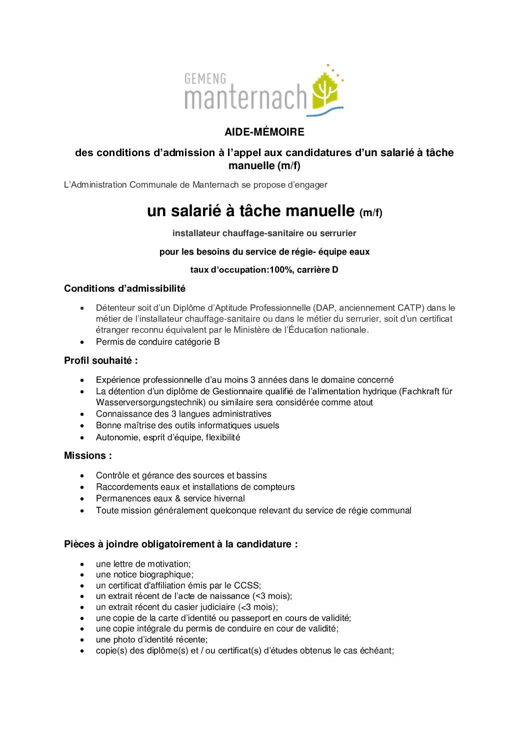 Salarié à tâche manuelle_version 2 CP 2021.09.17